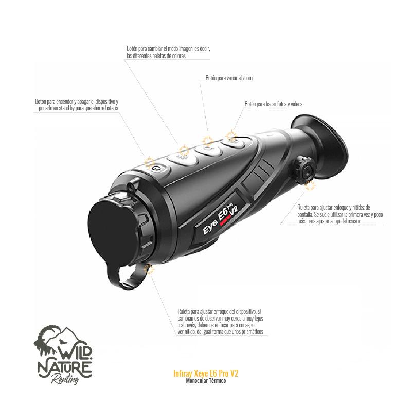 Monocular térmico Infray Xeye E6 Pro V2